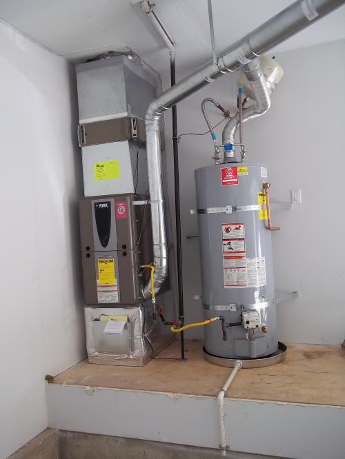 Variable speed furnace and safe water heater