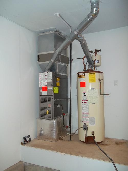 Installation Job Of The Week Furnace And Hot Water Tank