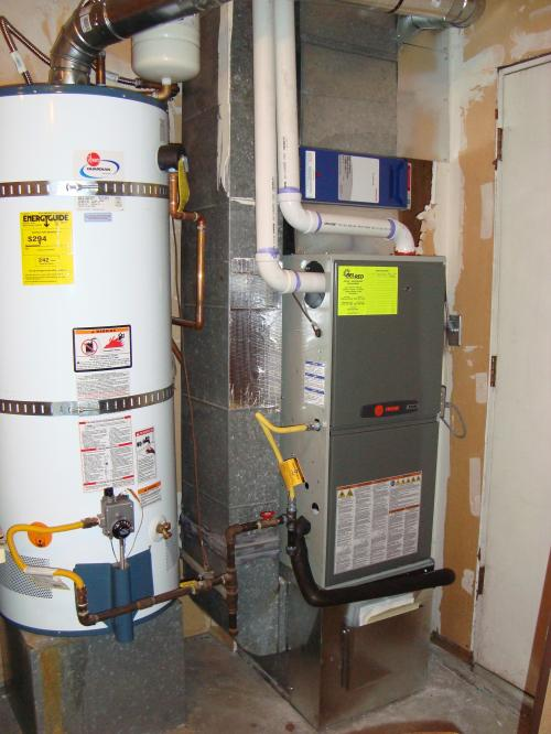 High efficiency furnace and air filter