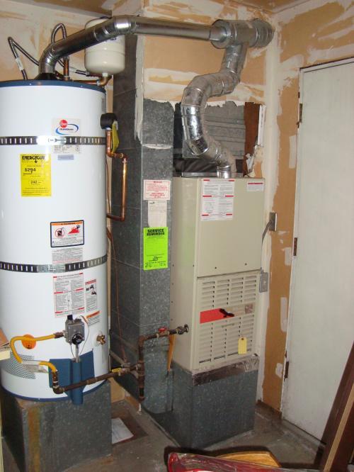 Old standard efficiency furnace